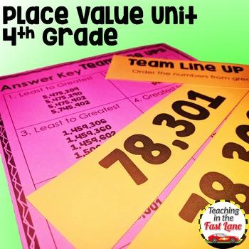 Place Value Unit with Lesson Plans