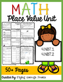 Place Value Unit: Assessments, Math Centers & Practice