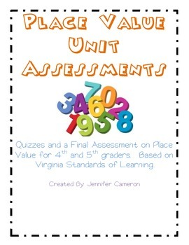 Place Value Unit Assessment