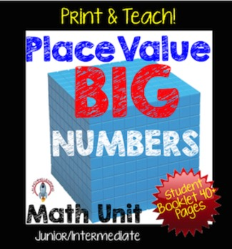 Place Value Unit, Big Numbers NO PREP