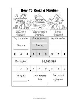 Place Value Unit - Interactive Notebook - Foldables - 4.NBT.A.2 - 4.NBT.A.3