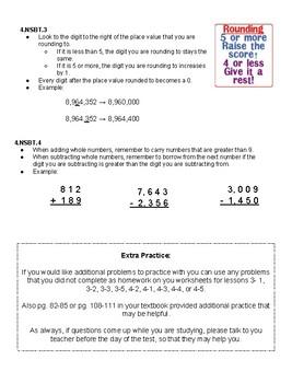 Place Value Unit Study Guide