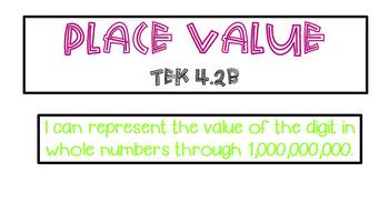 Place Value Unit TEKS