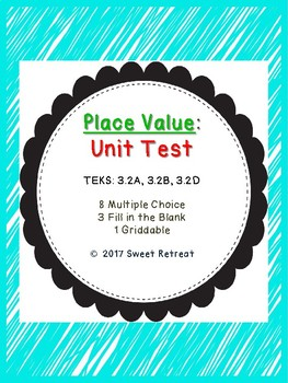 Place Value Unit Test