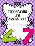 Place Value Unit Test- Aligned to 2nd Grade Core Content