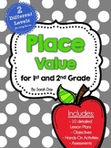 Place Value Unit for 1st and 2nd Grade