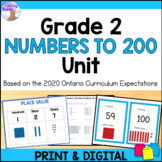 Place Value Unit for Grade 2 (Ontario Curriculum)