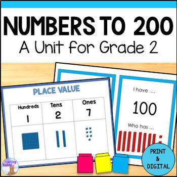 Place Value Unit for Grade 2 (Ontario Curriculum)