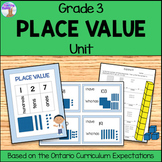 Place Value Unit for Grade 3 (Ontario Curriculum)