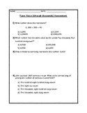 Place Value (Up To Thousands) Assessment