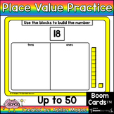 Place Value Up to 50 Boom Cards - Digital Distance Learning