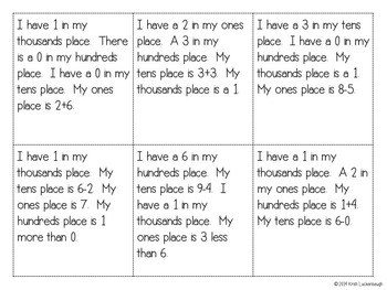 Place Value Using Reasoning