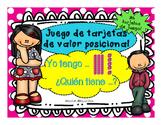 Place Value/ Valor Posicional/ Juego de Yo tengo, quien tiene/ Math/ Spanish