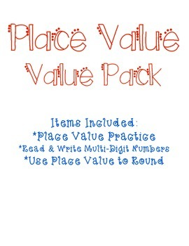 Place Value Value Pack