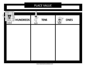 Place Value - Variety of Place Value Mats- Ones & Tens or Ones, Tens, & Hundreds