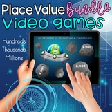 Place Value Video Games 1 & 2: Hundreds, Thousands, Millions