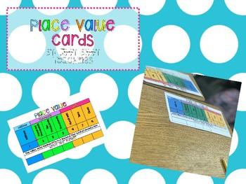 Place Value Visual Dri-Erase Desk Cards