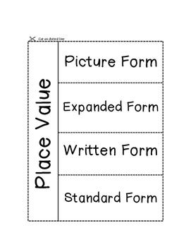 Place Value Vocab Foldable