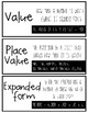 Place Value Vocabulary Cards