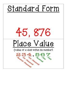 Place Value Vocabulary Cards **TEKS Aligned**