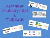 Place Value Vocabulary Cards and Task Cards
