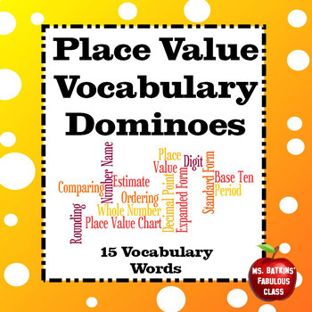 Place Value Vocabulary Dominoes