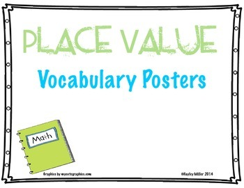 Place Value Vocabulary Posters
