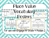 Place Value Vocabulary Posters Word Wall Engage NY Grade 4
