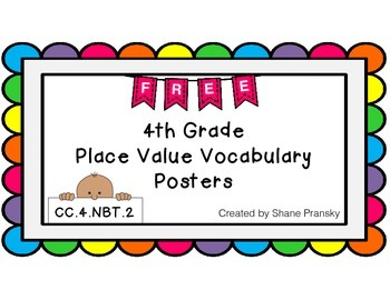 Place Value Vocabulary Posters - FREEBIE