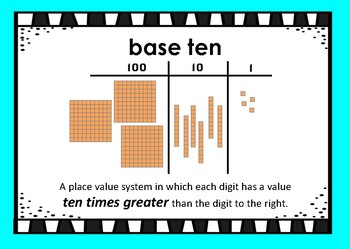Place Value Vocabulary PowerPoint and Student Practice Sheet