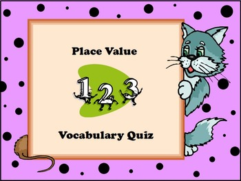 Place Value Vocabulary Quiz