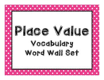Place Value Vocabulary Set