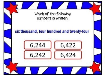 Place Value WRITTEN FORM - BOOM Cards! (24 Cards)