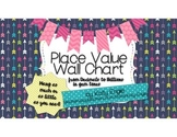 Place Value Wall Chart with decimals and billions - Gem Tones