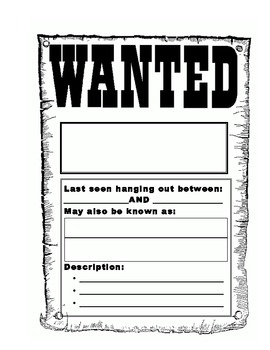 Place Value Wanted Poster