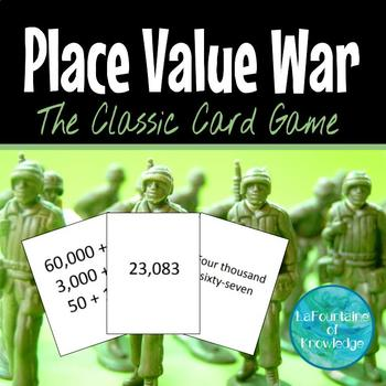 Place Value War - Standard, Expanded, and Word Form