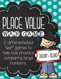 Place Value War Differentiated Math Game