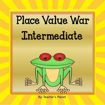 Place Value War Games - Intermediate