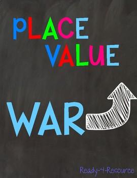 Place Value War- Math Center/Game