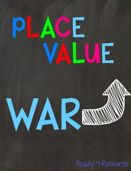 Place Value War- Math Center/Game