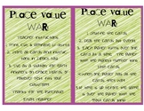Place Value War Math Game - Great for Centers!