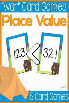 Place Value War card games