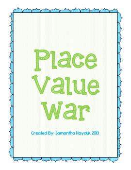Place Value War: through 1,000