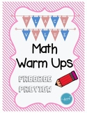 Place Value Warm Ups (FREEBEE PREVIEW)
