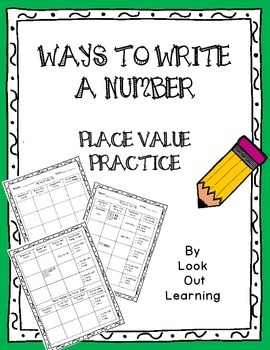 Place Value: Ways to Write a Number