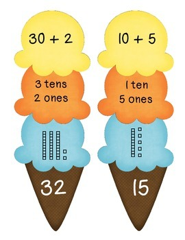 """Place Value """"What's the Scoop?"""" Puzzle"""