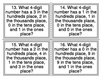 Place Value Which Number Task Cards (26 Cards)