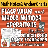 Place Value & Whole Number Operations Notes and Anchor Charts