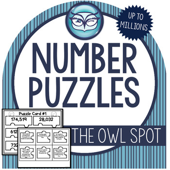 Place Value Whole Number Puzzles - 4th Grade
