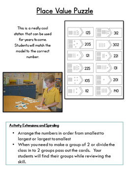 Place Value Whole Number to 9,999 (Interactive Notebook with Task Cards)